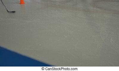 joueur, lutin, hockey bâton