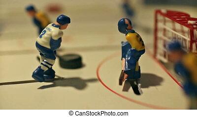 joueur, lutin, hockey, scores