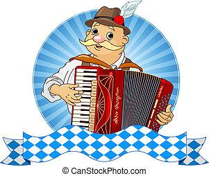 joueur, oktoberfest, accordéon