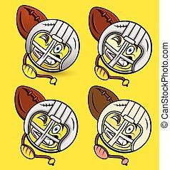 joueur rugby, emoji
