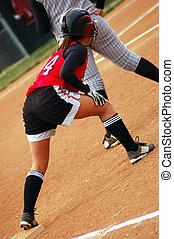 joueur, softball