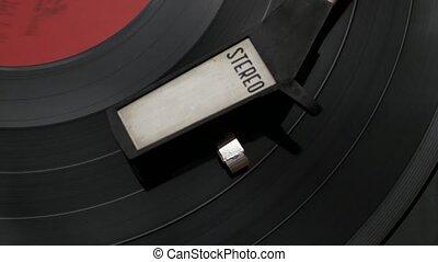 joueur, stéréo, enregistrement, vinyle, vendange