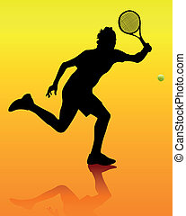joueur, tennis