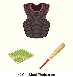 joueur, vecteur, design., icônes, base-ball, dessin animé, ...