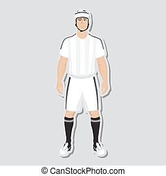 joueur, vecteur,  rugby
