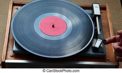joueur, vieux, vinyle