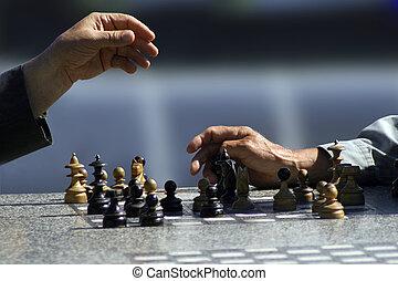 joueurs, échecs