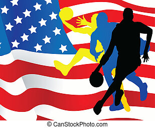 joueurs, basket-ball