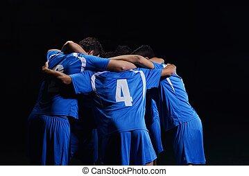 joueurs football, équipe