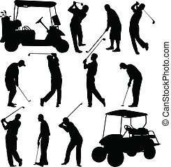 joueurs golf, collection