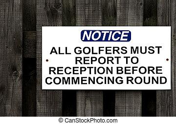 joueurs golf, instructions