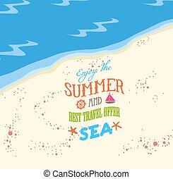 jouir de, été, plage