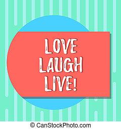 jouir de, concept, couleur amour, texte, photo., forme, rire, vide, ton, dehors, humour, positif, écriture, live., cercle, être, bon, business, venir, ombre, mot, inspiré, jours, rectangulaire, rire