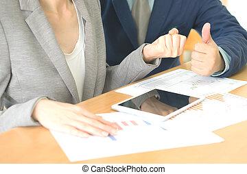 jouir de, conseiller, fonctionnement, success., bureau affaires, homme affaires