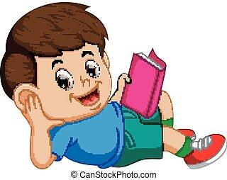 jouir de, lecture garçon, livre