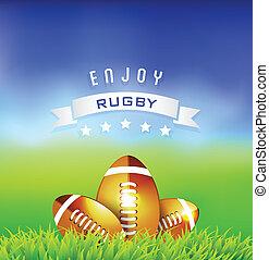 jouir de, rugby, temps, fond