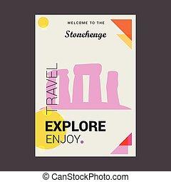 jouir de, stonehenge, angleterre, affiche, voyage, accueil, wiltshire???, gabarit, explorer