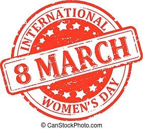jour, 8, international, femmes, mars