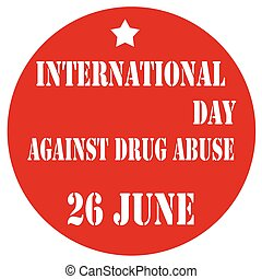 jour, abus, contre, drogue, international
