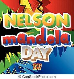 jour, affiche,  Nelson,  mandela