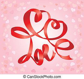 jour, carte, petite amie, cœurs