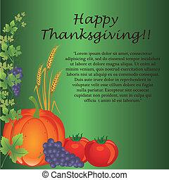 jour, carte, thanksgiving