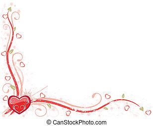 jour, carte, valentin