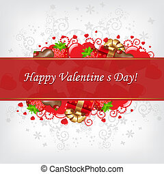 jour, carte, valentines