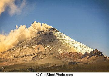jour, cotopaxi, explosion, volcan