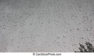 jour, eau, pluvieux, gouttes, verre