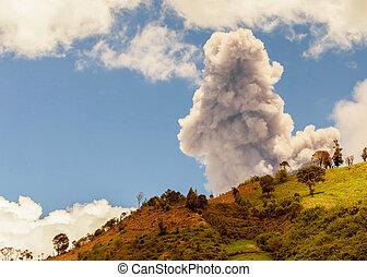 jour, explosion, tungurahua