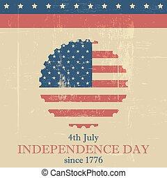 jour, fond, indépendance