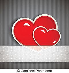 jour, hearts., petite amie, fond, vacances
