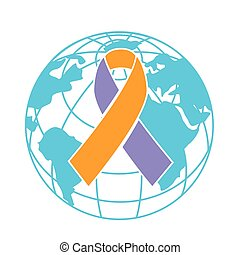jour, icône, psoriasis, mondiale