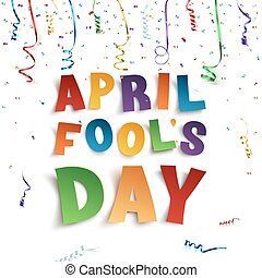 jour imbéciles avril, arrière-plan.