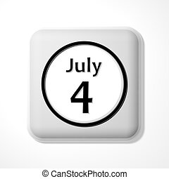 jour, indépendance, icône
