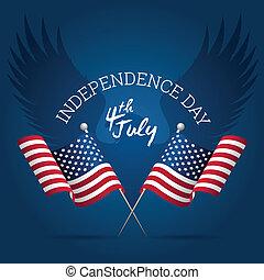 jour, indépendance, signe
