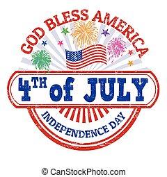 jour indépendance, timbre