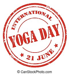 jour, international, yoga