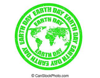 jour, la terre, timbre