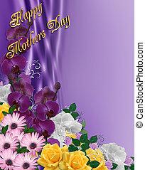 jour, mères, frontière, floral