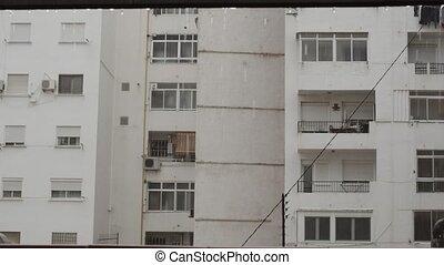 jour, maison, pluvieux, appartement