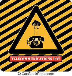 jour, mondiale, télécommunications