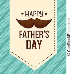 jour, moustache, heureux, carte, pères, décoration