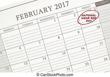jour,  national, calendrier, rouges, usure