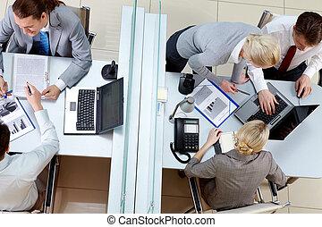 jour ouvrable, dans, bureau