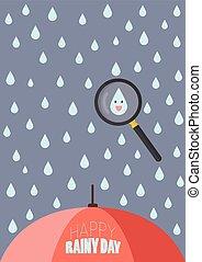 jour pluvieux, heureux
