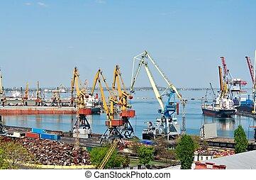 jour, port maritime