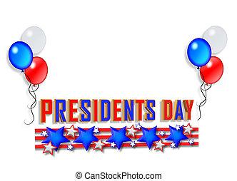 jour présidents, frontière, graphique