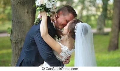 jour, tenue, palefrenier, mariage, mariée, dansez pose